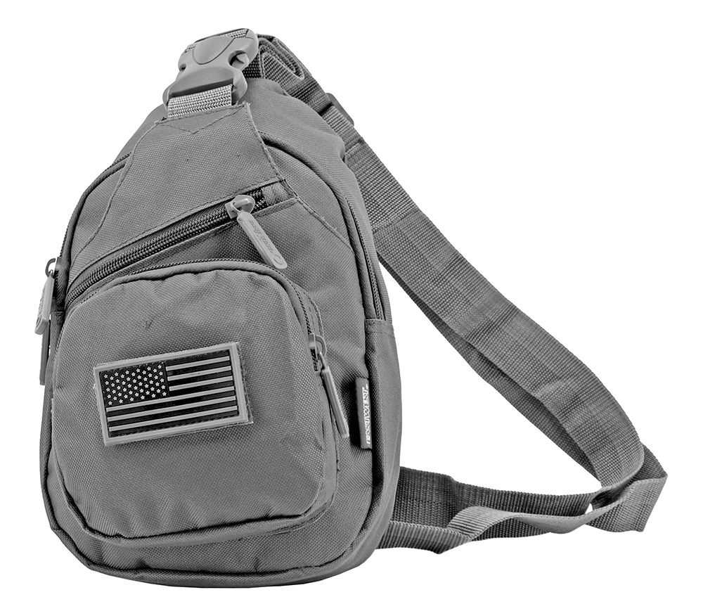 Military Side Sling Bag - Grey