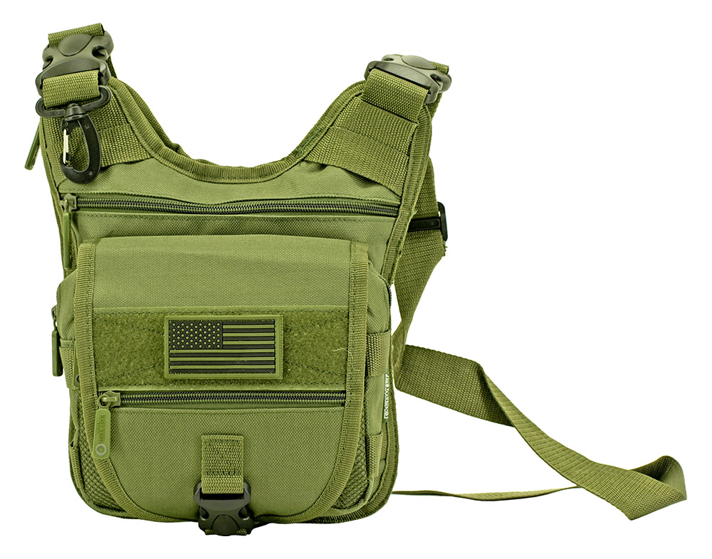 Tactical Sling Range Bag - Olive Green