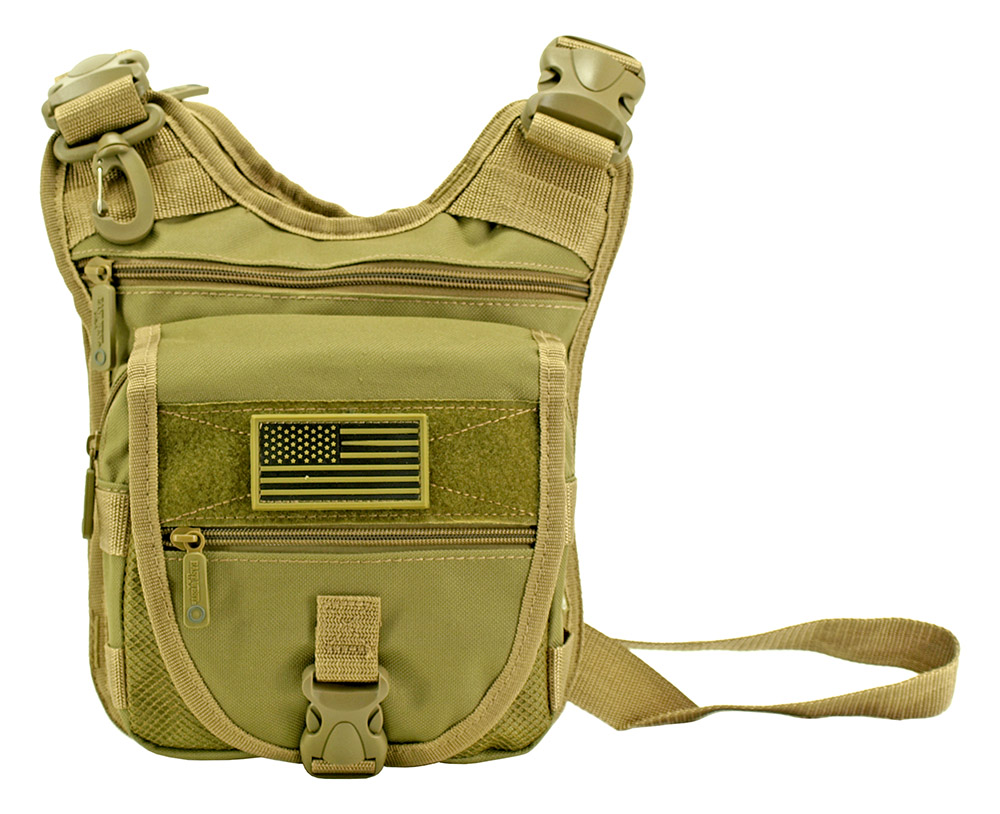 Tactical Sling Range Bag - Desert Tan