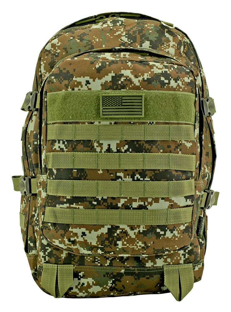 Military Molle Pack - Green Digital Camo
