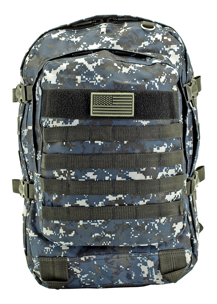 Military Molle Pack - Blue Digital Camo