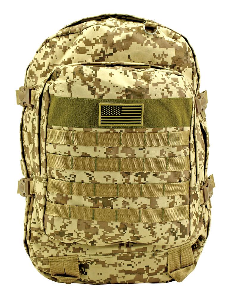 Military Molle Pack - Desert Digital Camo