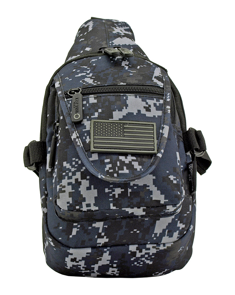 Military Sling Bag - Blue Digital Camo
