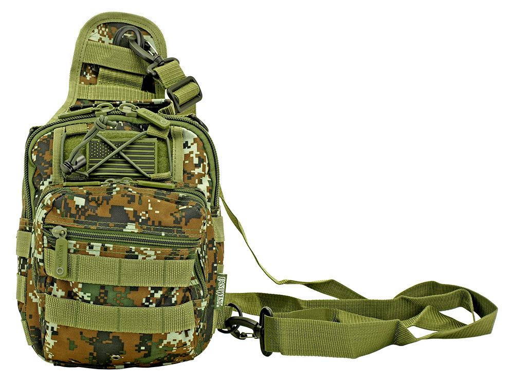Tactical Hip Pack - Green Digital Camo