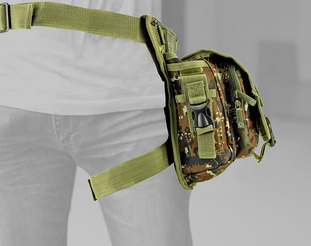 Tactical Hip Bag - Green Digital Camo