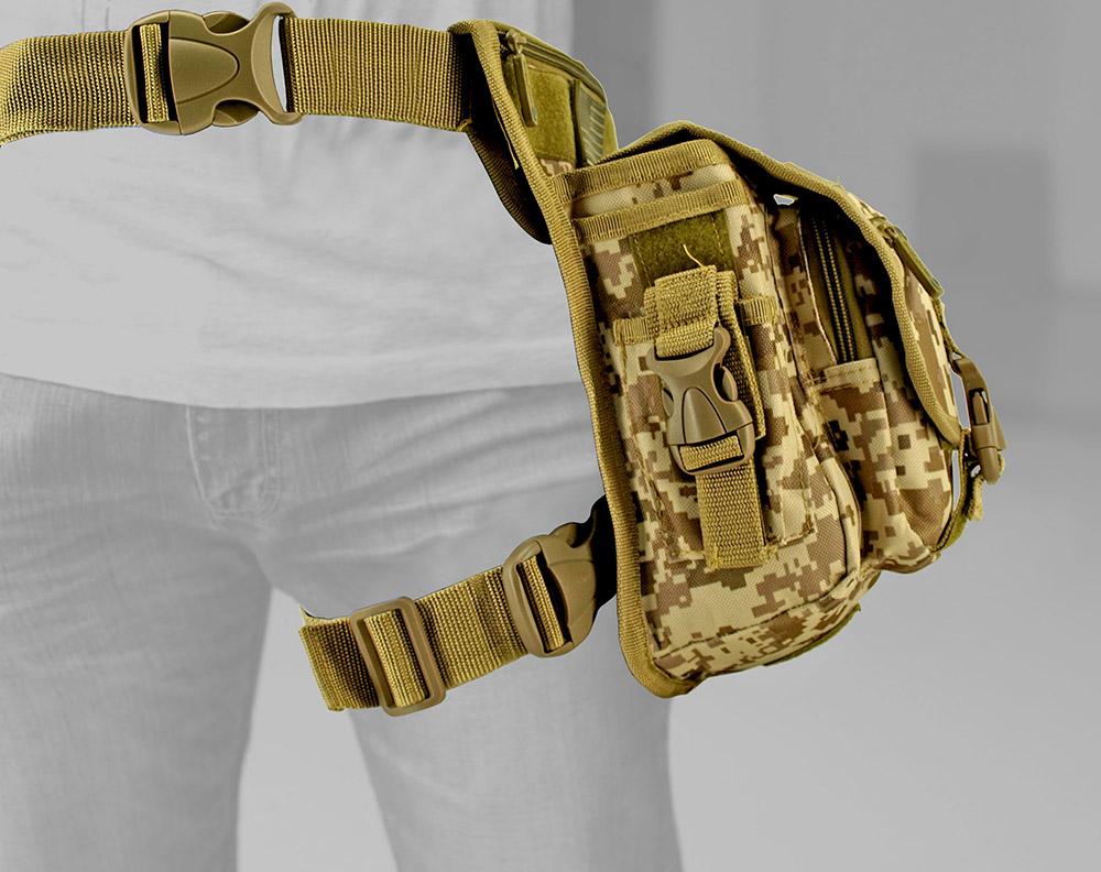 Tactical Hip Bag - Desert Digital Camo
