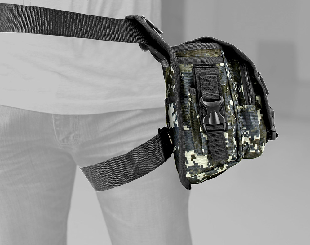 Tactical Hip Bag - Blue Digital Camo