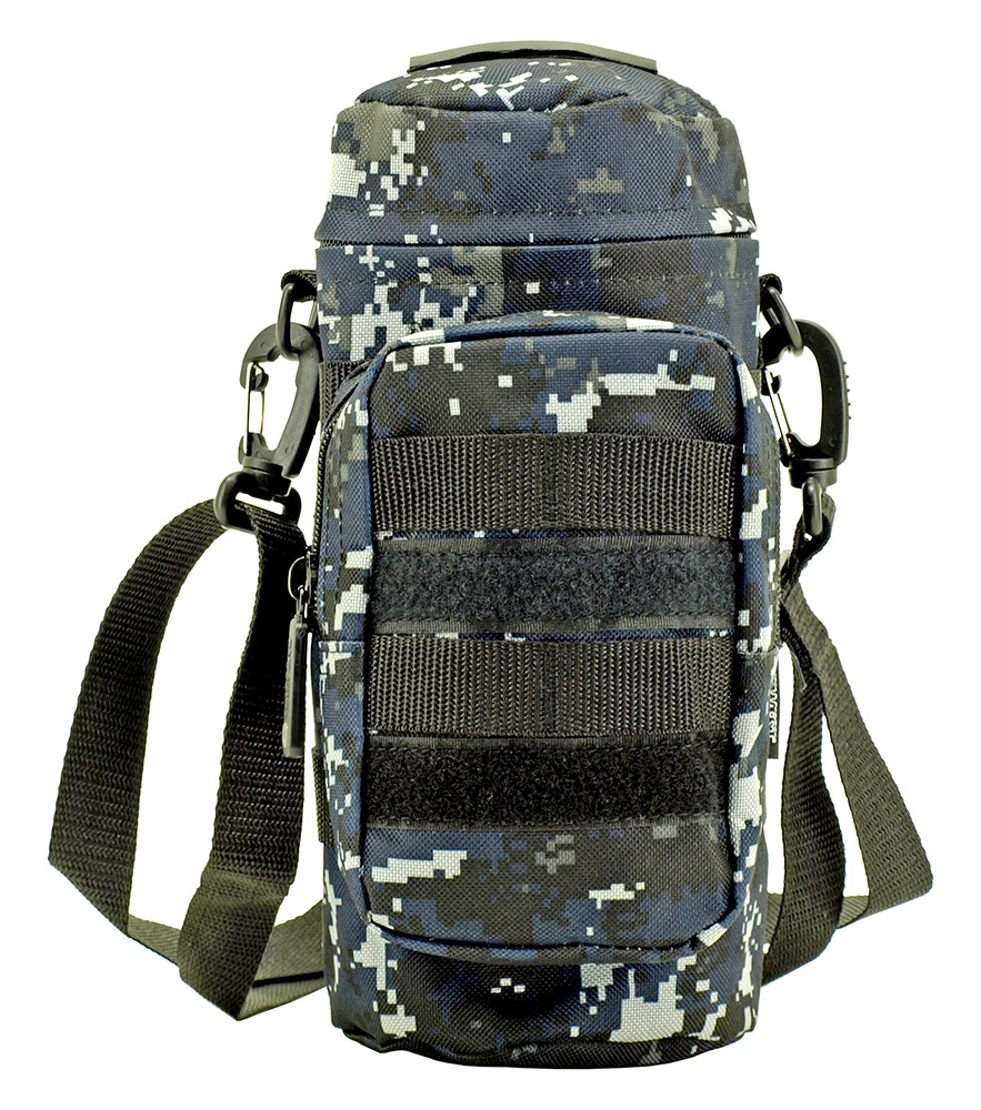 Molle Water Bottle Pack - Blue Digital Camo