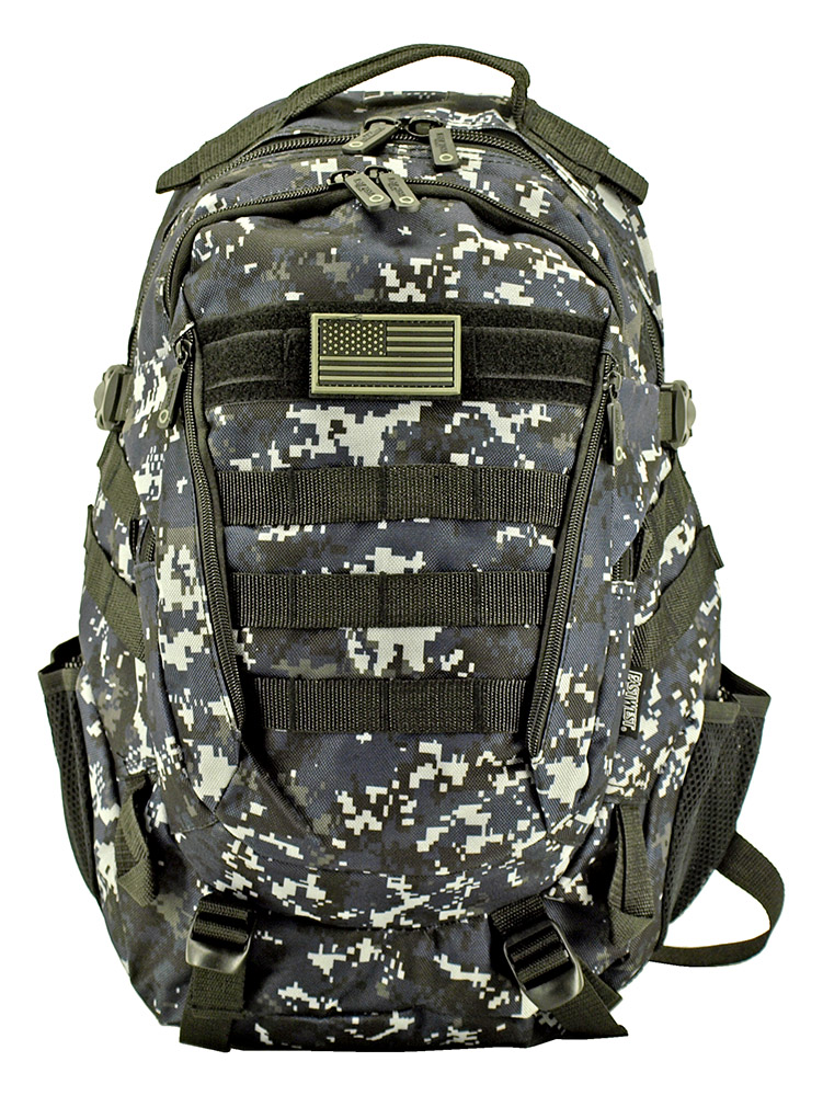 Athletic Backpack - Blue Digital Camo