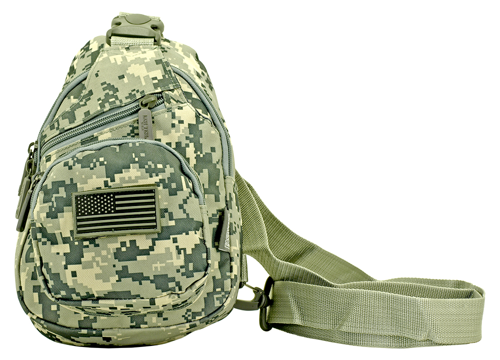 Military Side Sling Bag - Digital Camo
