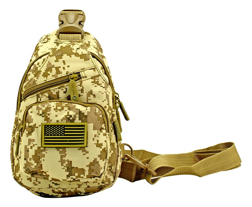 Military Side Sling Bag - Desert Digital Camo