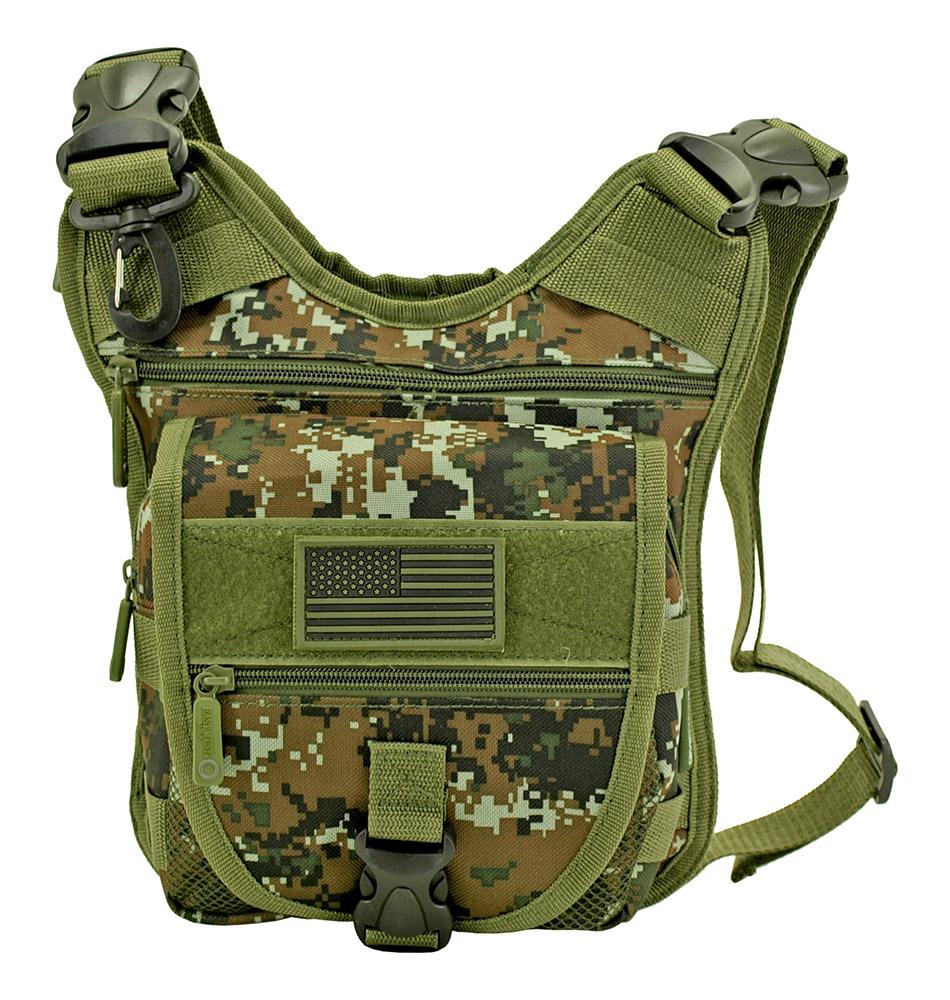 Tactical Sling Range Bag - Green Digital Camo