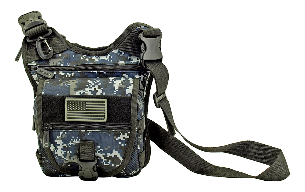 Tactical Sling Range Bag - Blue Digital Camo