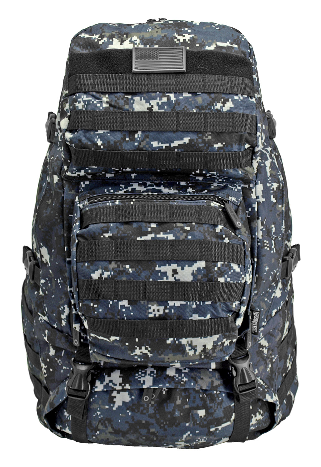 Large Tactical Readiness Pack - Blue Digital Camo