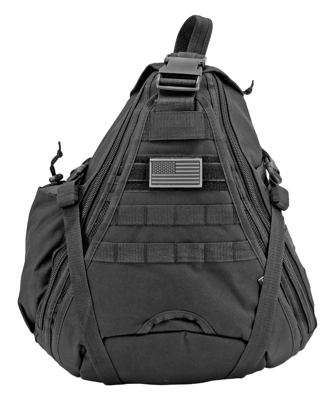 Military Sling Backback - Black