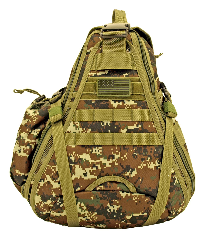 Military Sling Backback - Green Digital Camo