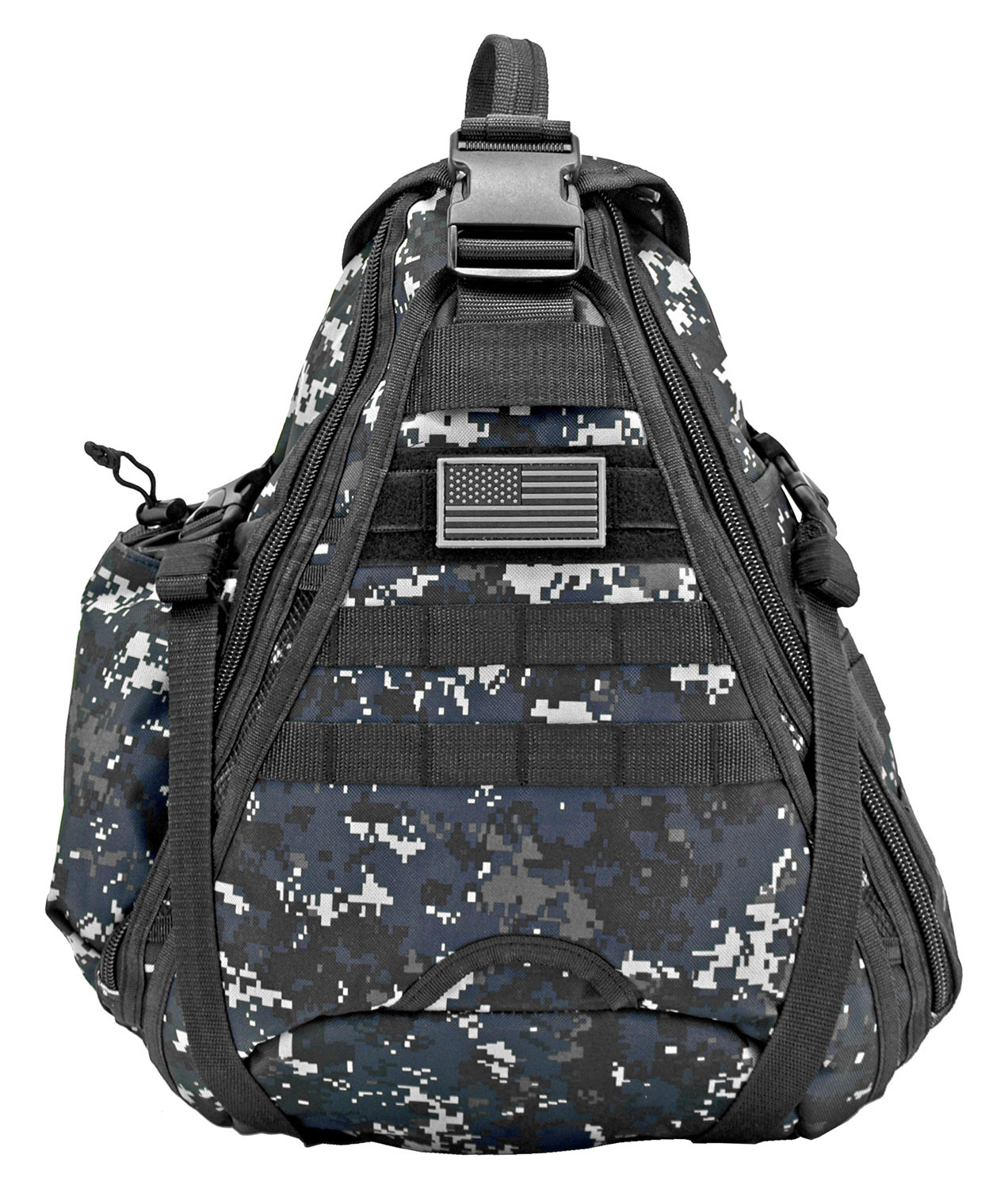 Military Sling Backback - Blue Digital Camo