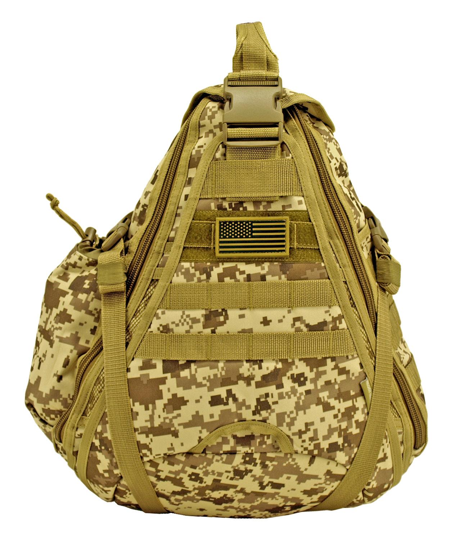Military Sling Backback - Desert Digital Camo