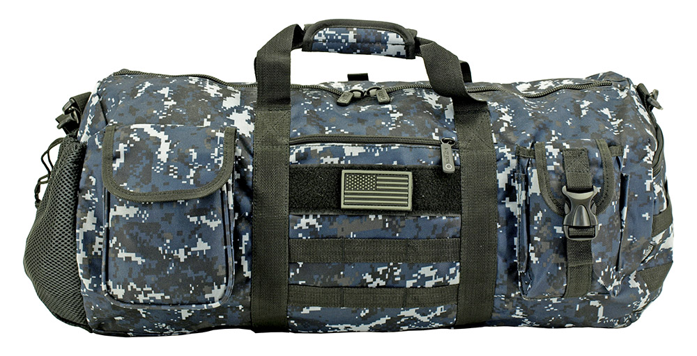 The Tactical Duffle Bag - Blue Digital Camo
