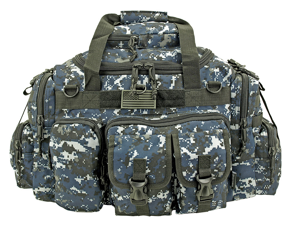 The Humvee Duffle Bag - Blue Digital Camo