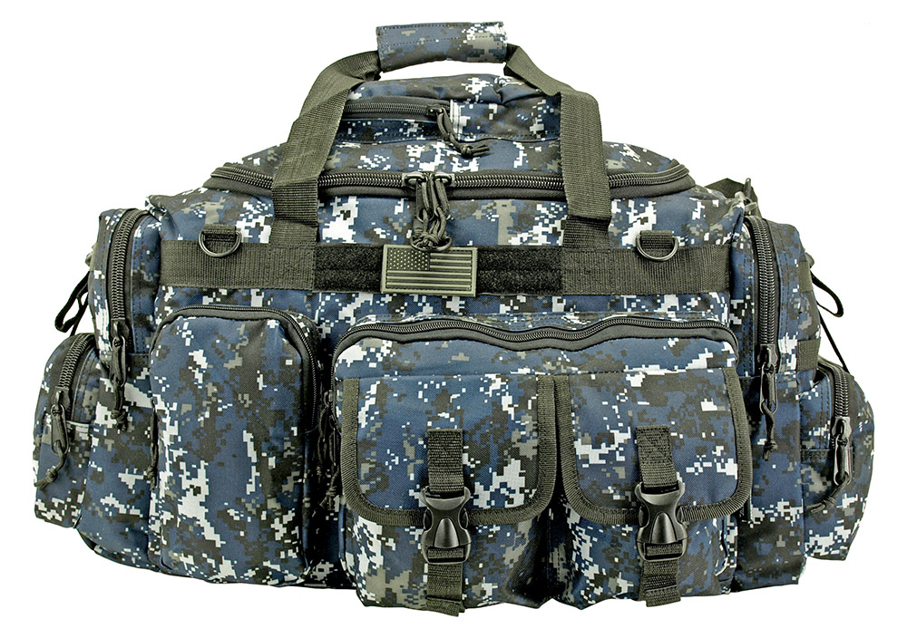 The Humvee Duffle Bag (Large) - Blue Digital Camo