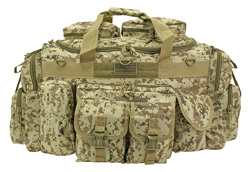 The Tank Duffle Bag - Tan Digital Camo