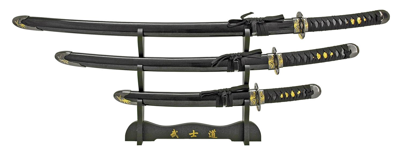 Professional Samurai Sword Set - Black