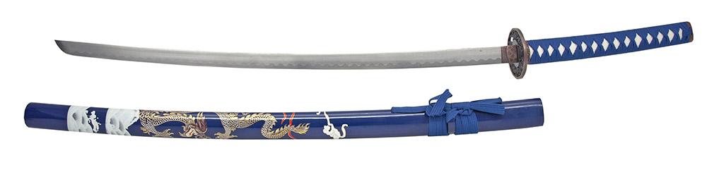 40.5 in Dragon Samurai Sword - Blue