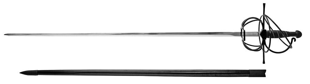 47 in Rapier Sword - Black