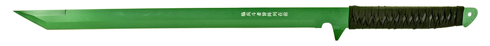2 - pc. Samurai Style Sword Set - Green