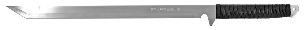 2 - pc. Samurai Style Sword Set - Silver