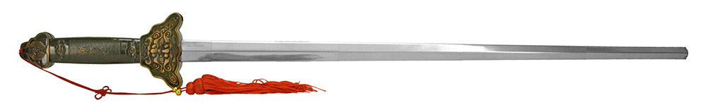 34.75 in Collapsible Ninja Sword - Red