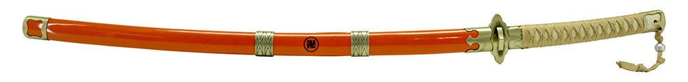 39.5 in Orange Anime Samurai Sword