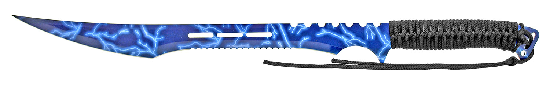 27 in Stainless Steel Machete W/ Sheath - Lighting Blue