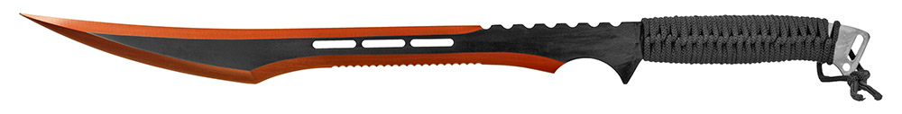 27 in Stainless Steel Machete with Sheath - Red