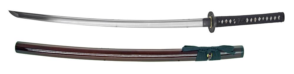 40.5 in Hand Honed Samurai Sword - Red