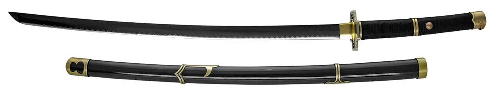 39 in Hand Sharpened Samurai Sword - Black & Gold