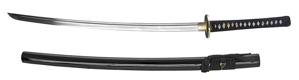 41 in Hand Forged Musashi Samurai Sword - Black