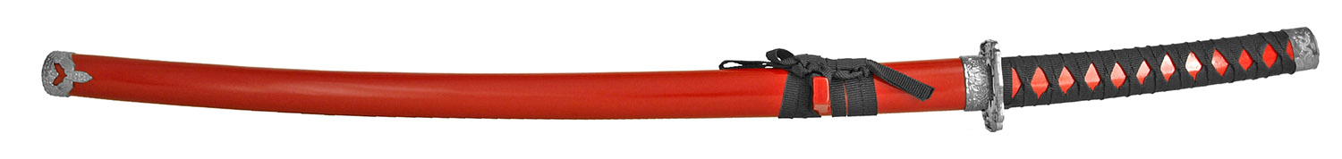 37 in Traditional Samurai Sword - Red