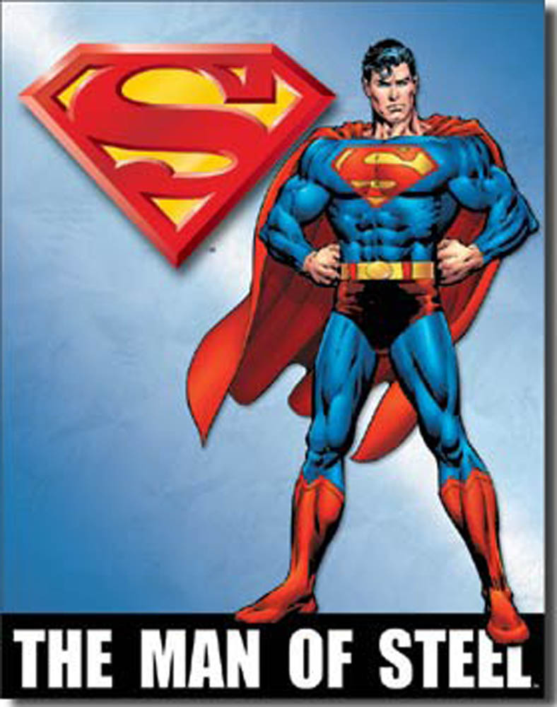 Superman The Man of Steel Tin Sign