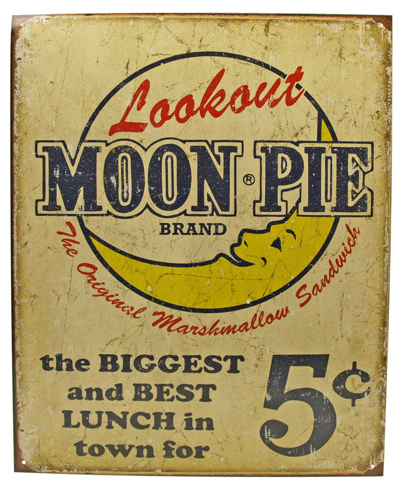 Moon Pie Tin Sign