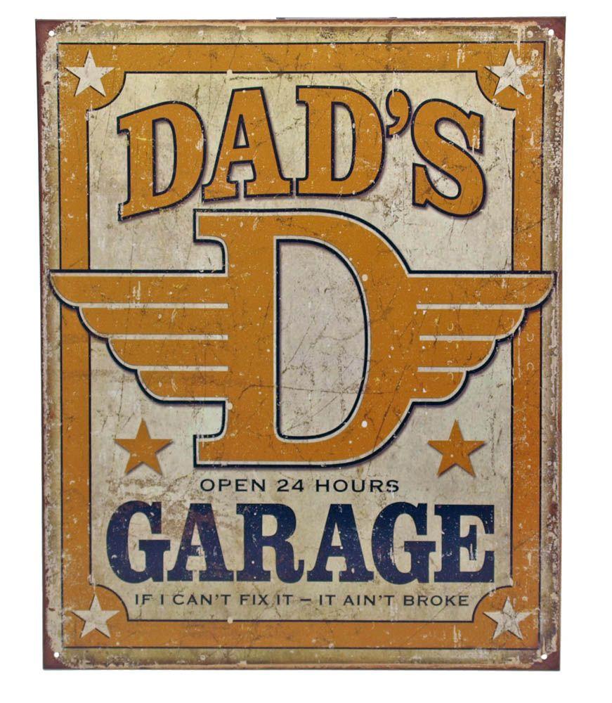 Dad's Garage Tin Sign