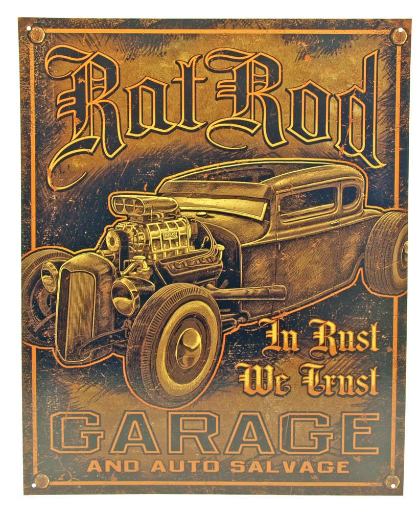 Rat Rod Garage Tin Sign
