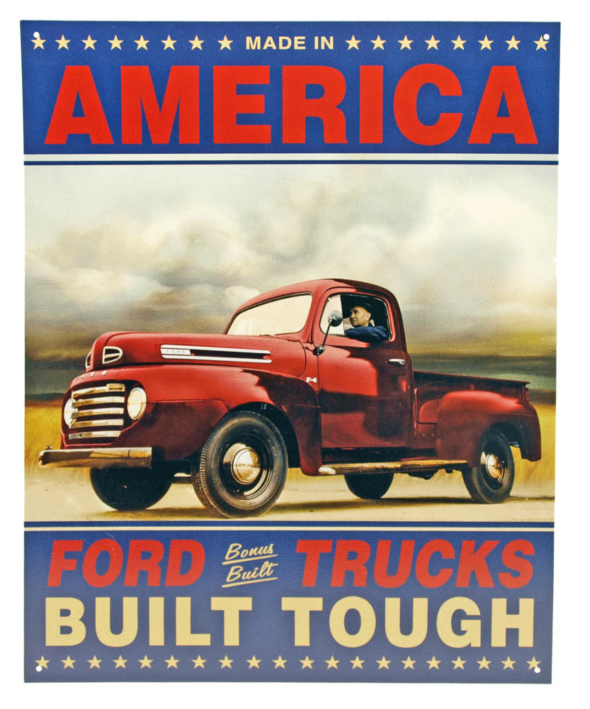 Ford Trucks Built Tough Tin Sign