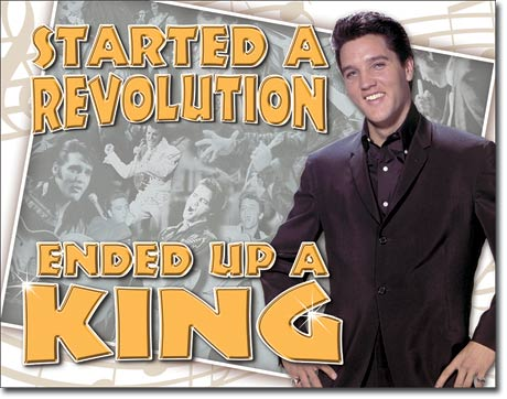 Started A Revolution Elvis Tin Sign