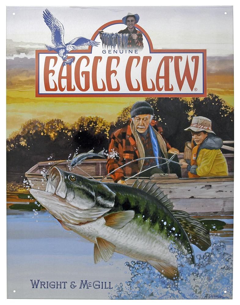 Genuine Eagle Claw Tin Sign