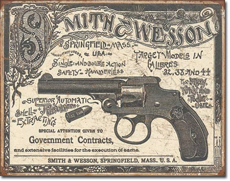Smith & Wesson Government Contracts Tin Sign