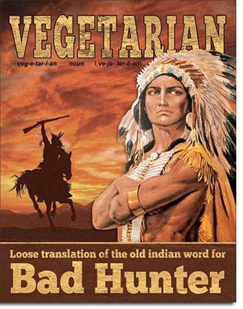 Vegetarian Translation Tin Sign