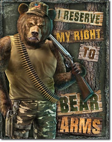 Right to Bear Arms Tin Sign