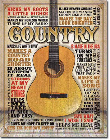Country - Made in America Tin Sign